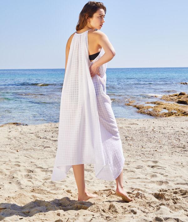 Robe de plage transparente avec pompoms