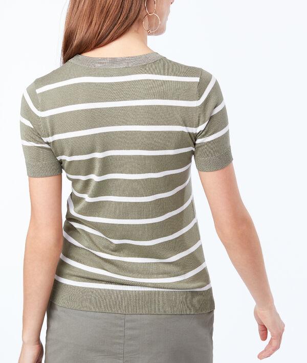 T-shirt en maille fine à rayures