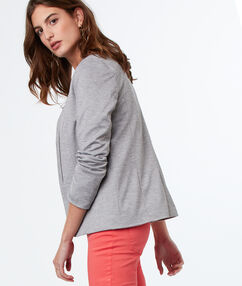 Veste blazer gris clair.