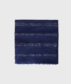 Foulard détails métallisés bleu marine.