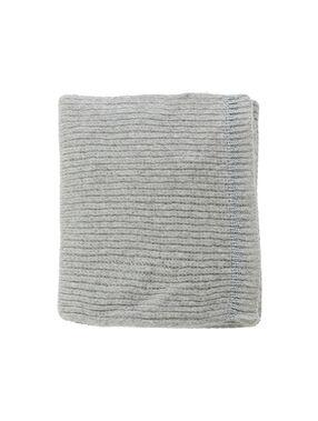 Écharpe détail fil métallisé gris chine clair.