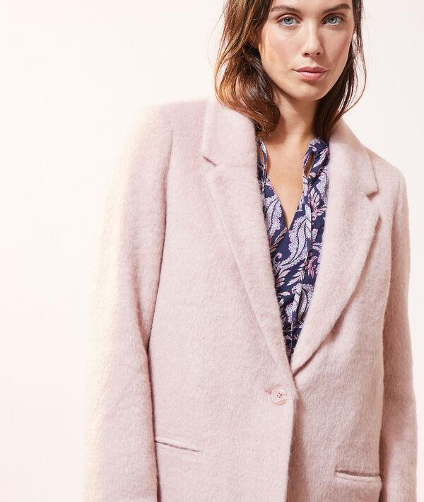 Manteau droit fausse fourrure