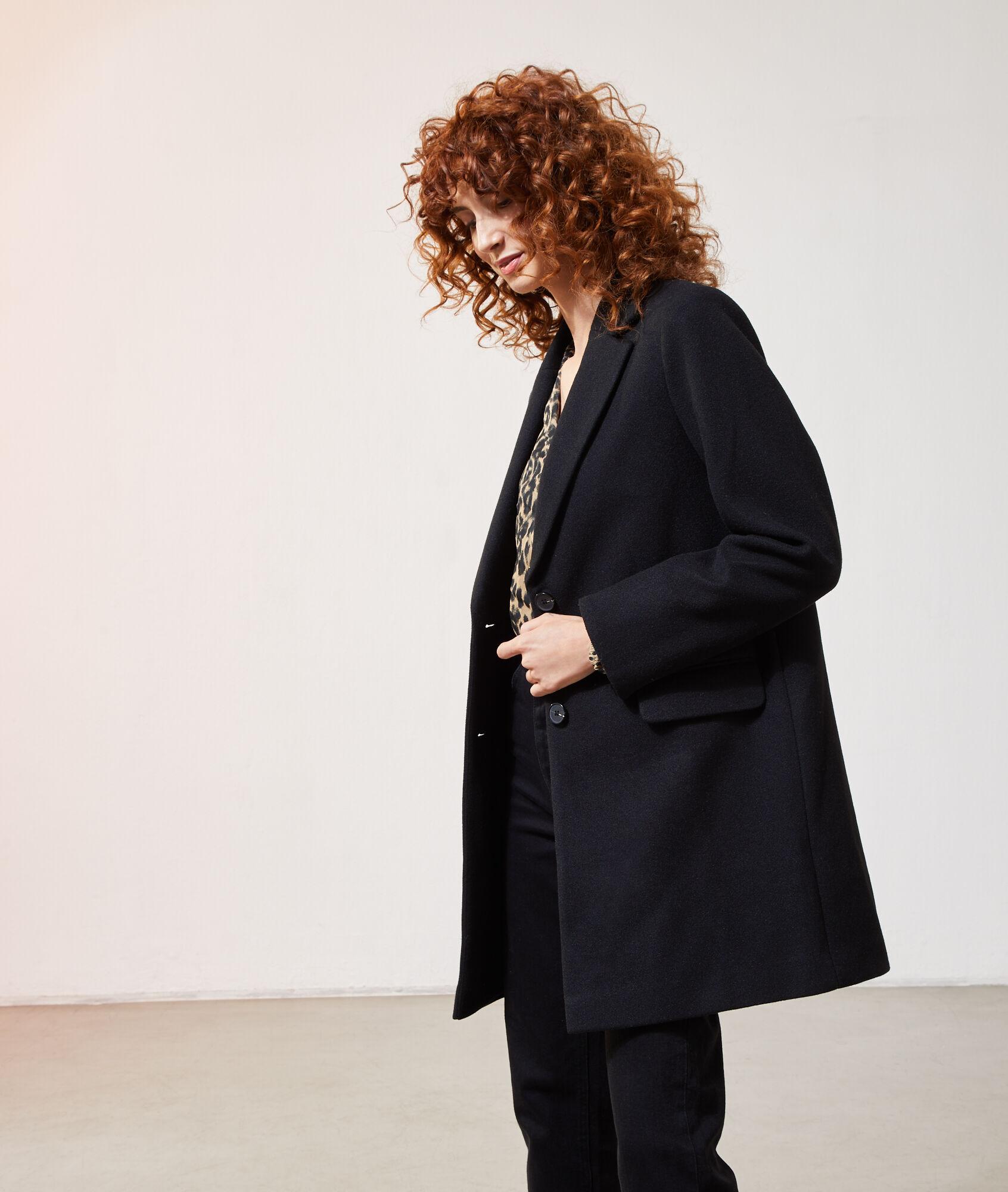 Wallis Manteau Femme Noir Noir 38: