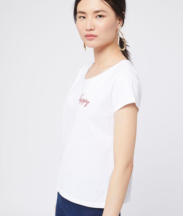 """T-shirt en coton """"Happy"""""""