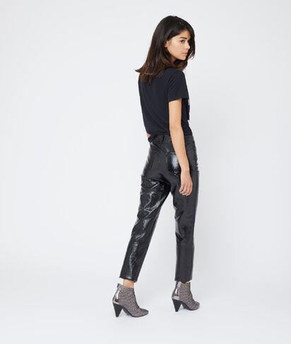 Pantalon slim en vinyle