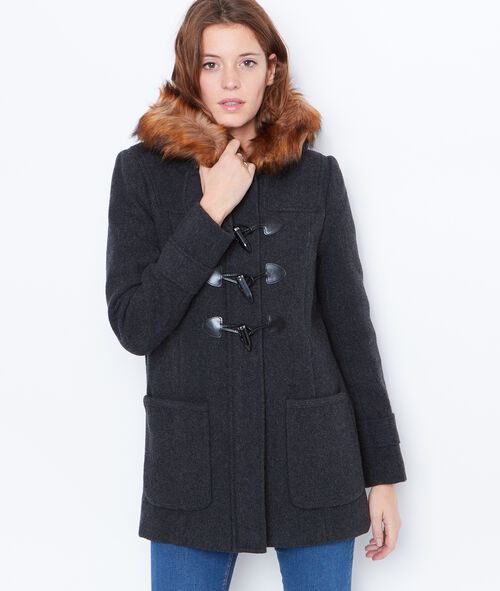 Duffle coat à capuche fourrée
