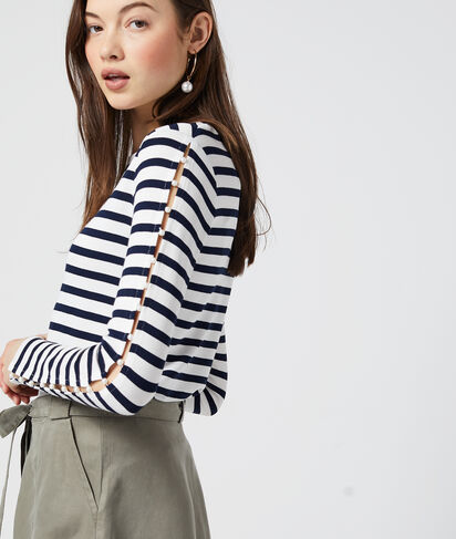 T-shirt manches longues à rayures