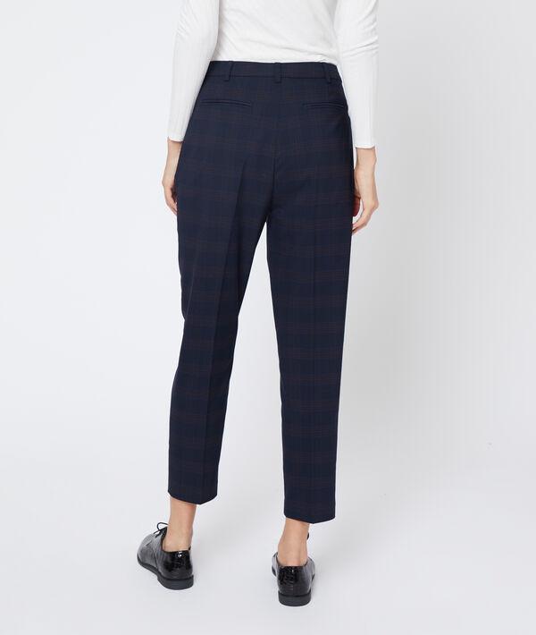 Pantalon droit à carreaux