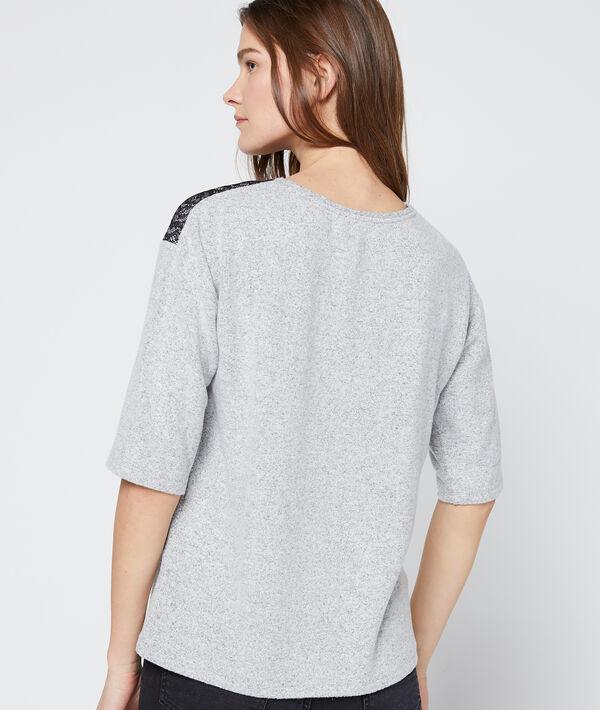 T-shirt empiècement guipure