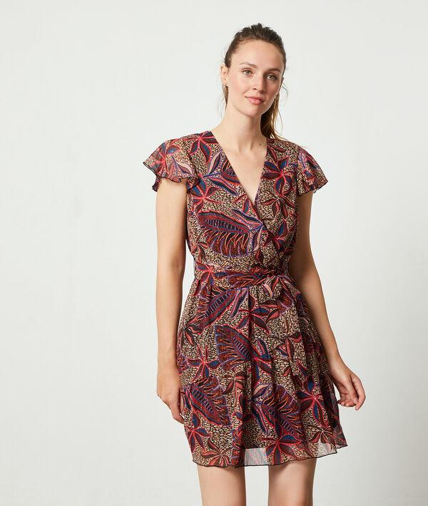 Robe imprimé feuillage