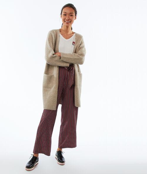 Gilet long avec poches