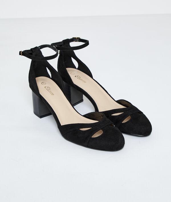 Sandales à talons effet daim