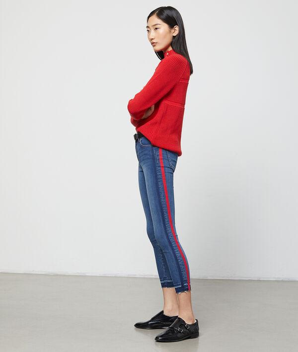 Jean skinny à bandes latérales