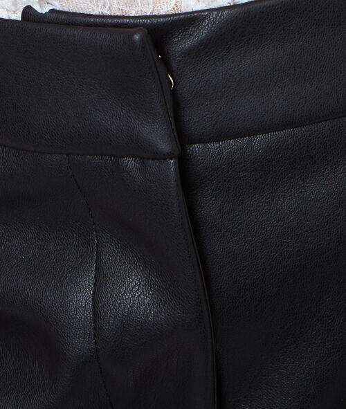 Mini short effet cuir
