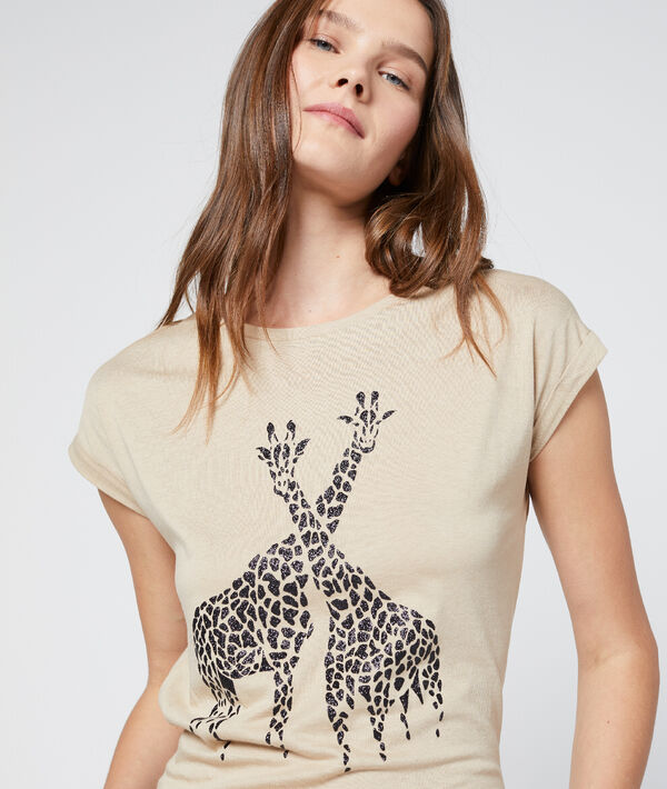 T-shirt sérigraphie girafes