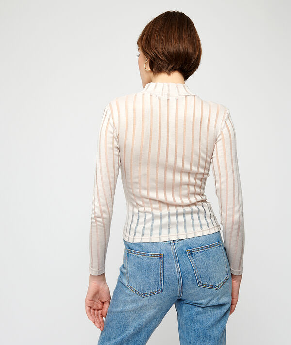 T-shirt à rayures transparentes