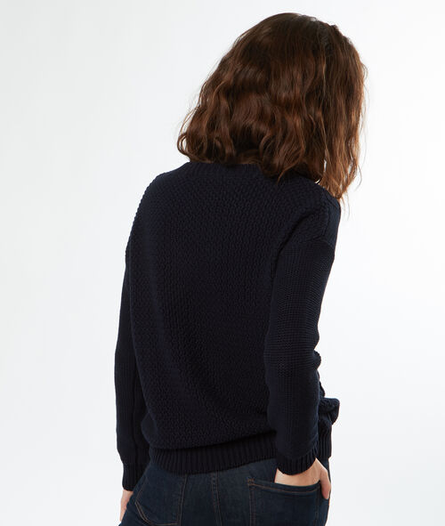 Pull tricot col rond en coton