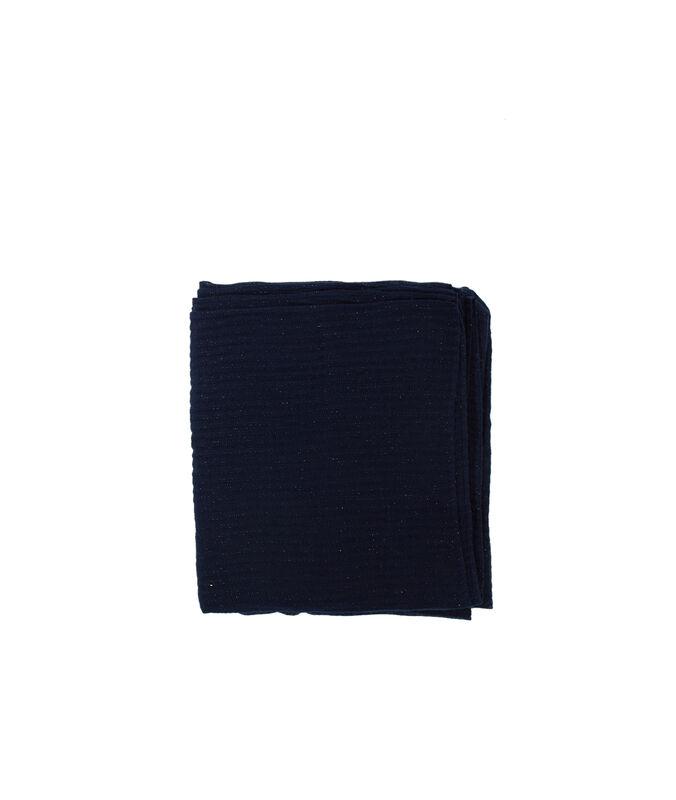 Foulard avec détail fil métallisé bleu marine.