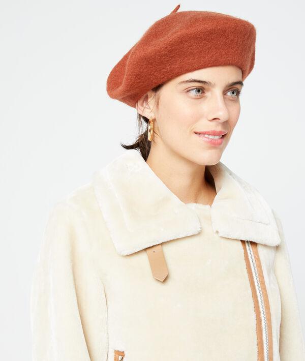 Béret uni en laine