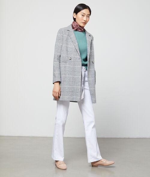 Manteau masculin à rayures