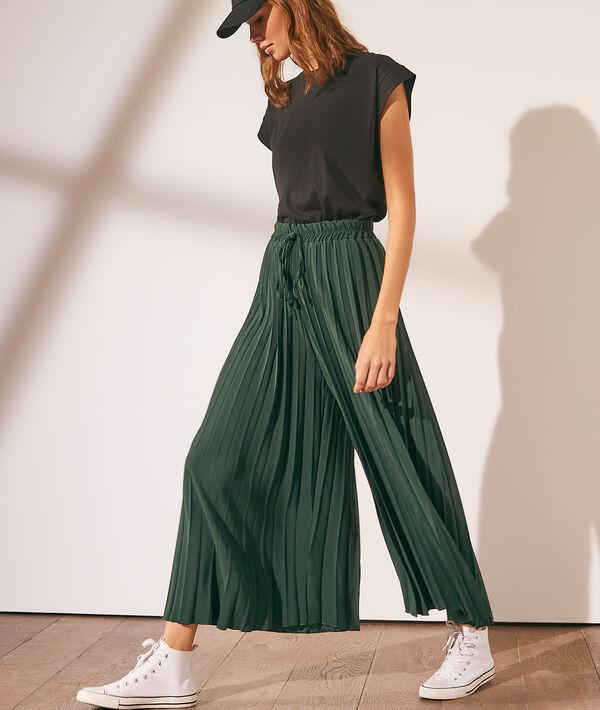 Pantalon large plissé