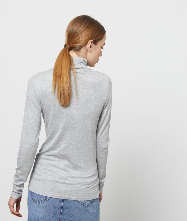 T-shirt col roulé à manches longues