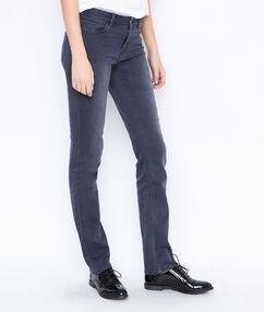 Jean droit gris anthracite.