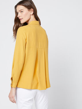 Blouse boutonnée en tencel® curry.