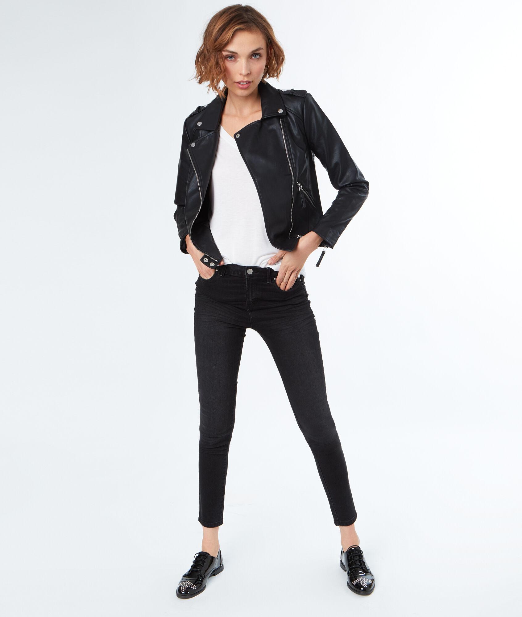 Etam veste cuir noir