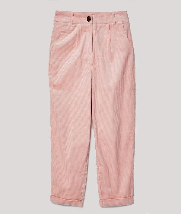 Pantalon carotte velours