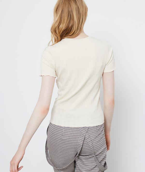 T-shirt côtelé en coton