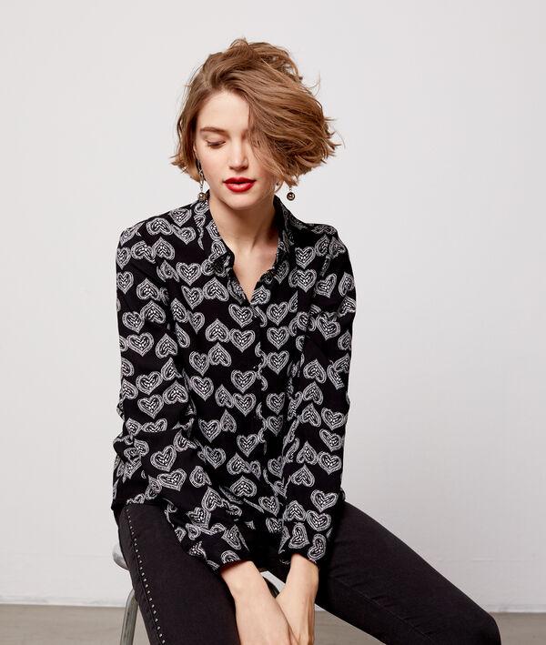 Chemise à motifs cœur