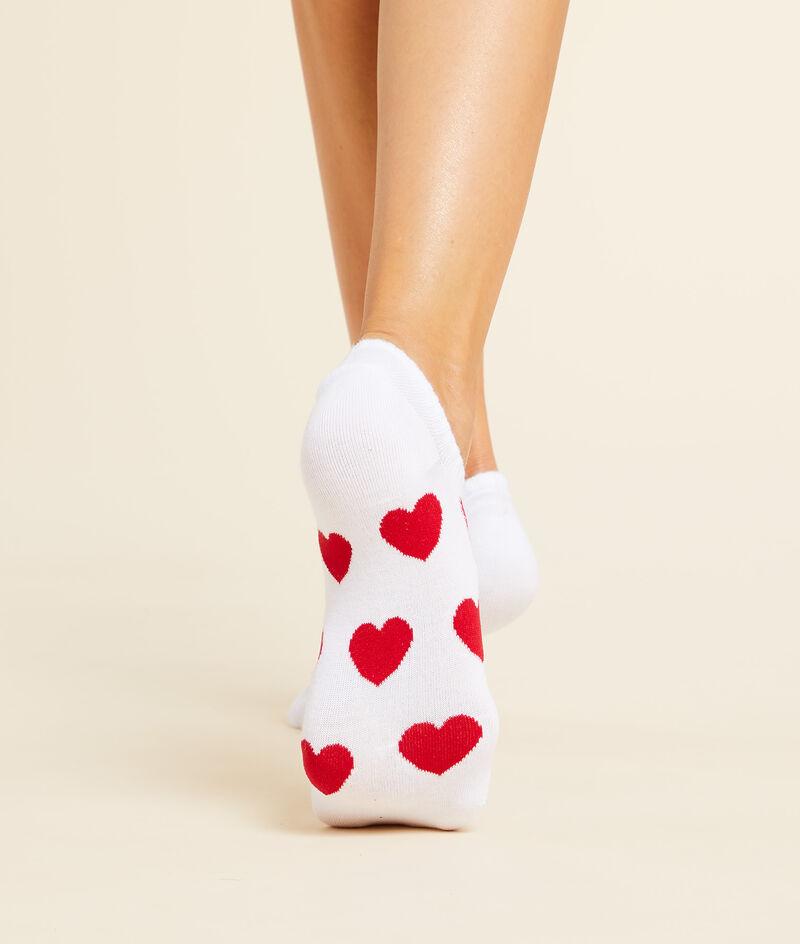 Lot de 2 paires de socquettes essentielles motifs coeurs