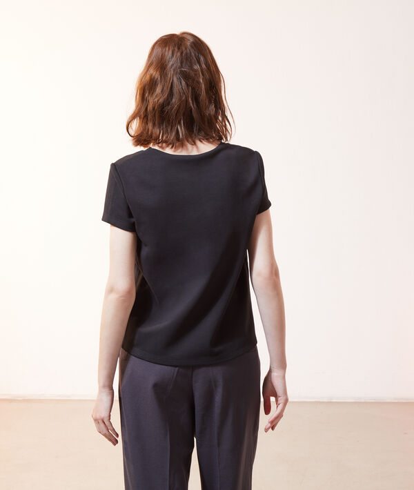 T-shirt zippé au dos 2 en 1 - brassière intégrée