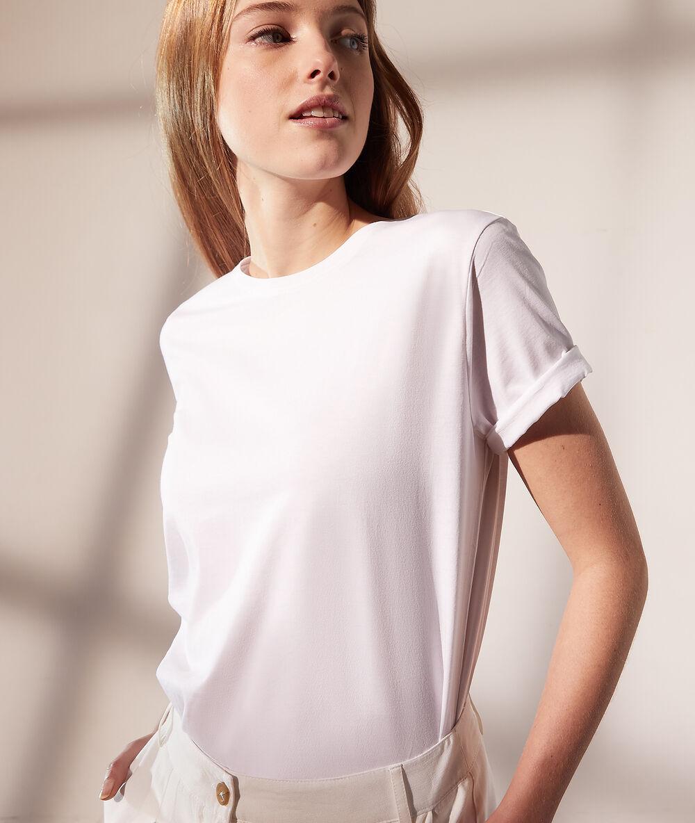 T-shirt col rond - Maggie - XL - Blanc - Femme - Etam