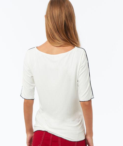 T-shirt à bordures contrastées