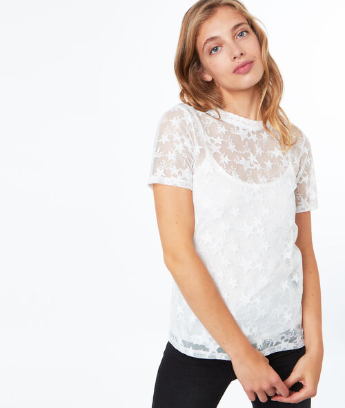 T-shirt doublé à étoiles