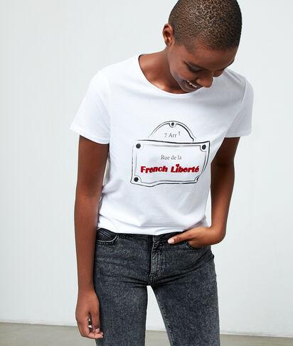 """T-shirt à message """"Rue de la French Liberté"""""""