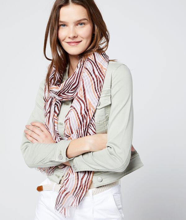 Foulard à imprimé multicolore - LIANA - TU - Beige - Femme - Etam