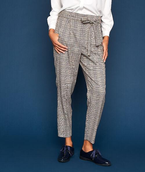 Pantalon motif Prince de Galles