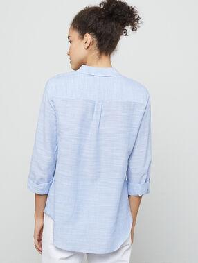 Chemise à rayures marine.