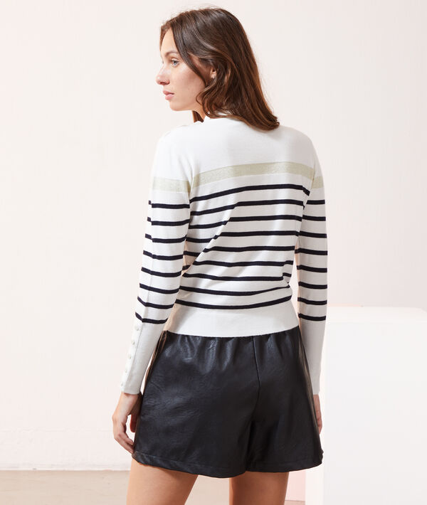 Pull rayé en maille fine