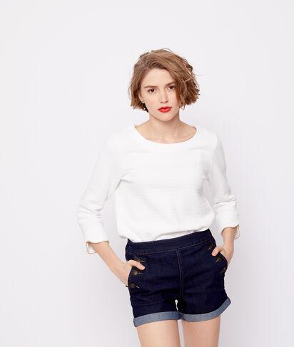 Short en jean boutonné