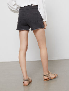 Short en jean gris anthracite.