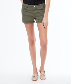 Short uni kaki.
