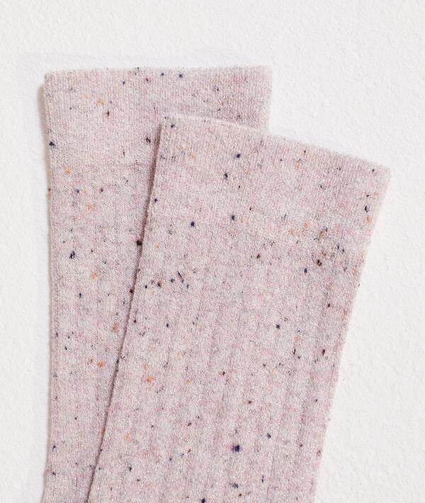 Chaussettes à fils colorés