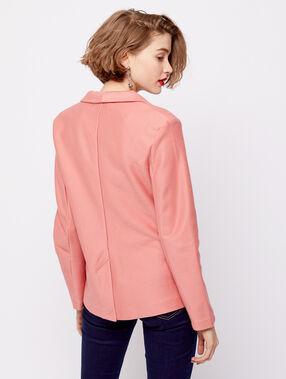 Veste de tailleur vieux rose.