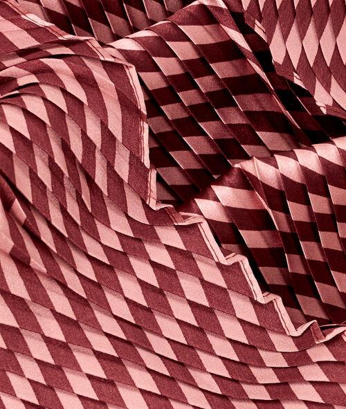 Foulard plissé à rayures