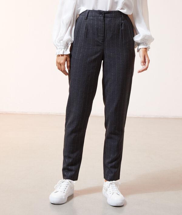 Pantalon à rayures métallisées