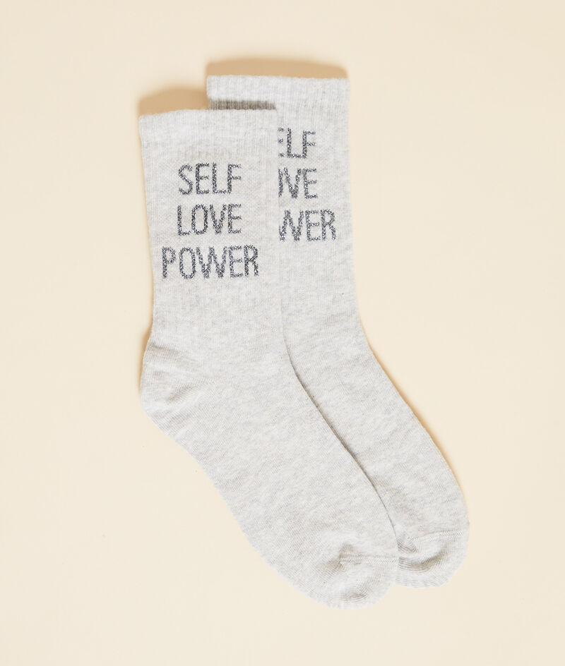 """Chaussettes mode """"Self love power"""""""